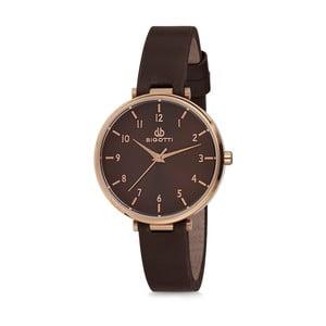 Dámské hodinky s černým koženým řemínkem Bigotti Milano Catherine