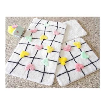 Set 3 covorașe de baie Confetti Bathmats Hearts de la Chilai Home by Alessia