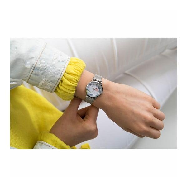 Dámské hodinky s páskem z nerezové oceli ve stříbrné barvě Emily Westwood Rosa