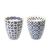 Sada 2 porcelánových šálků Geometric No1