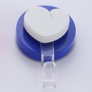 Cârlig cu montare fără găurire ZOSO Heart Blue