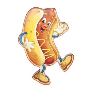 Nástěnné LED svítidlo s motivem hot-dogu Kare Design Sausage, šířka 67 cm