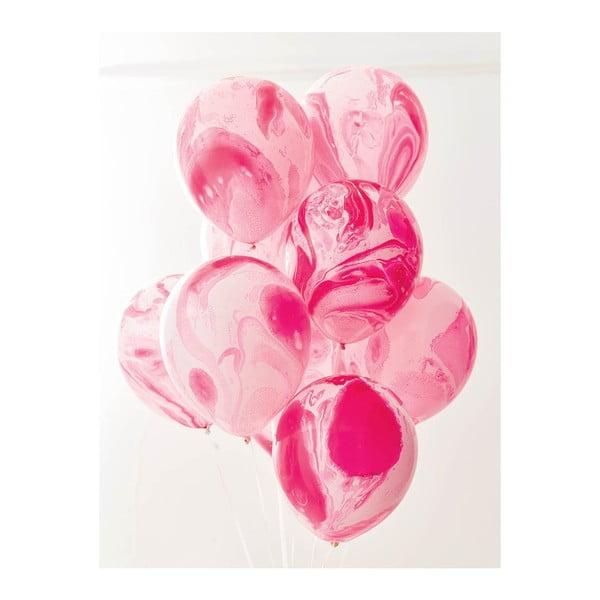 Sada 12 růžových balónků Talking Tables Unicorn