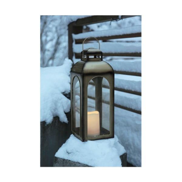 LED lucerna v bronzové barvě vhodná do exteriéru BestSeason Miriam, výška43cm