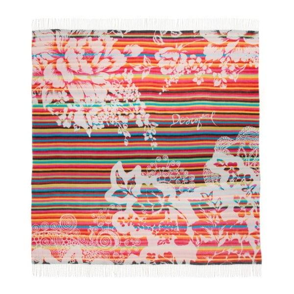Pléd DESIGUAL Negro, 150x170 cm