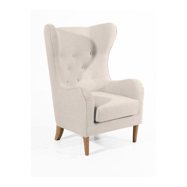 Linen krémszínű füles fotel - Max Winzer