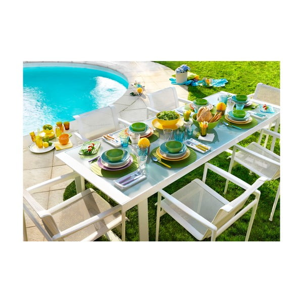 18dílná sada talířů Kaleidos, žluto-modro-bílá