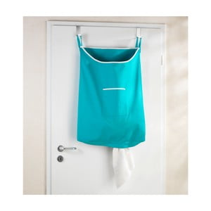 Tyrkysový závěsný koš na prádlo Wenko Door Laundry