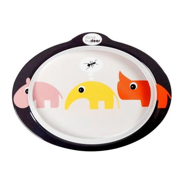 Protiskluzový talíř s úchyty Zoopreme, růžový