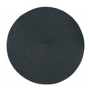 Černé kulaté prostírání Tiseco Home Studio Round Chambray, ø38cm