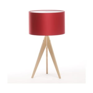 Stolní lampa Artist Ice Red/Natural Birch, 65 cm