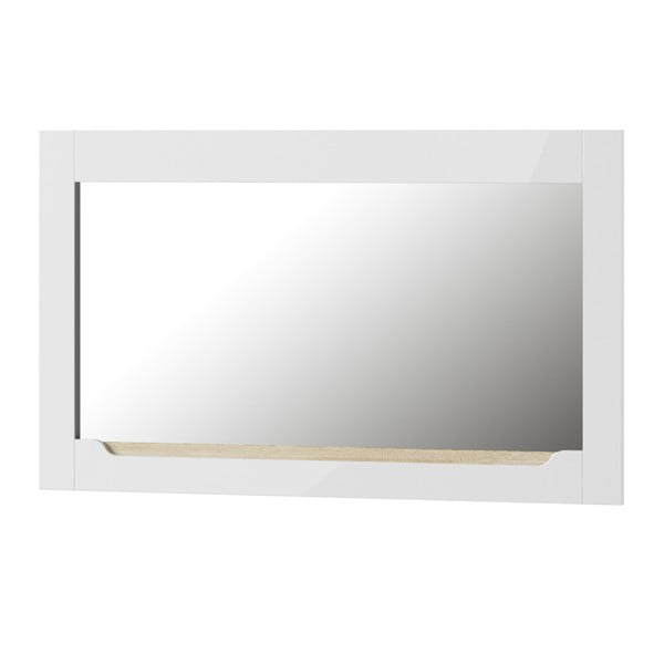 Bílé nástěnné zrcadlo Szynaka Meble Ice