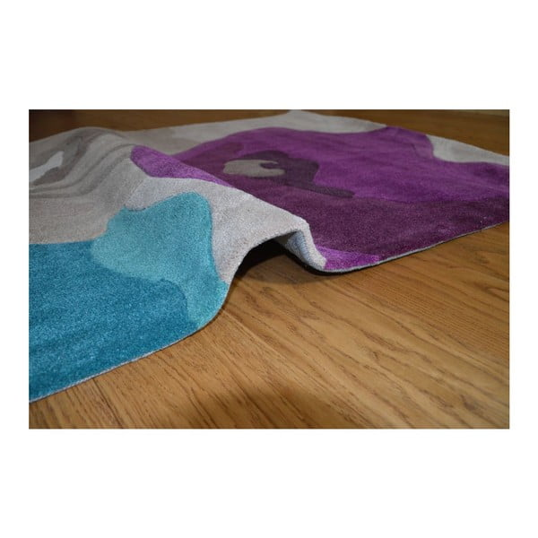 Koberec Poppy Flowers Teal Purple, 120x170 cm