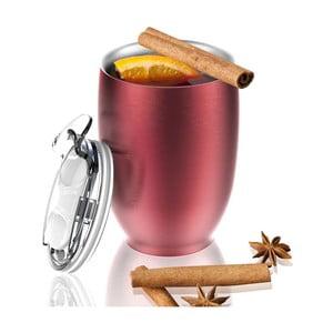 Červený nerezový termohrnek Asobu Imperial Beverage, 300 ml