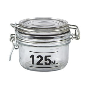 Recipient  de sticlă cu capac KJ Collection Jar, 125 ml