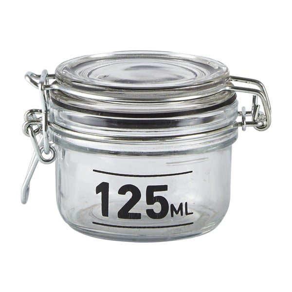 Jar üvegedény fedéllel, 125 ml - KJ Collection