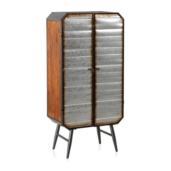 Šatní skříň s kovovými nohami a dveřmi Geese Duke
