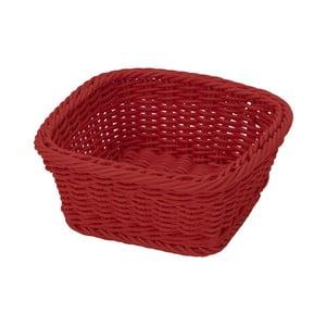 Košík Korb Quadra Red, 19x19x7,5 cm