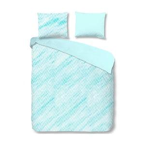 Světle modré bavlněné povlečení na jednolůžko Muller Textiels Sheila,140x200cm