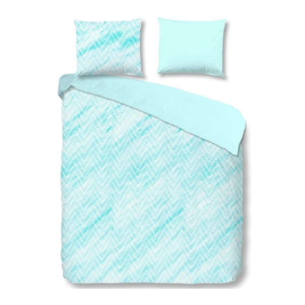 Lenjerie de pat din bumbac Good Morning Sheila,200x200cm, albastru deschis