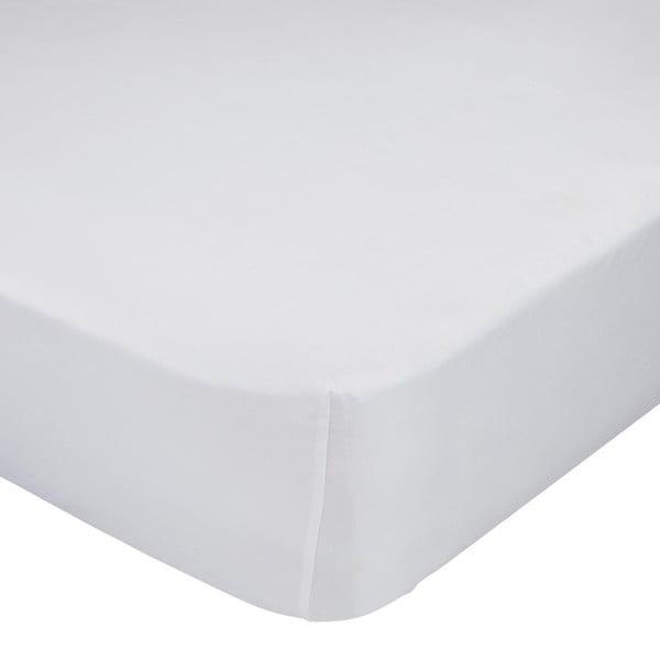 Bílé elastické prostěradlo z čisté bavlny, 120 x 60 cm