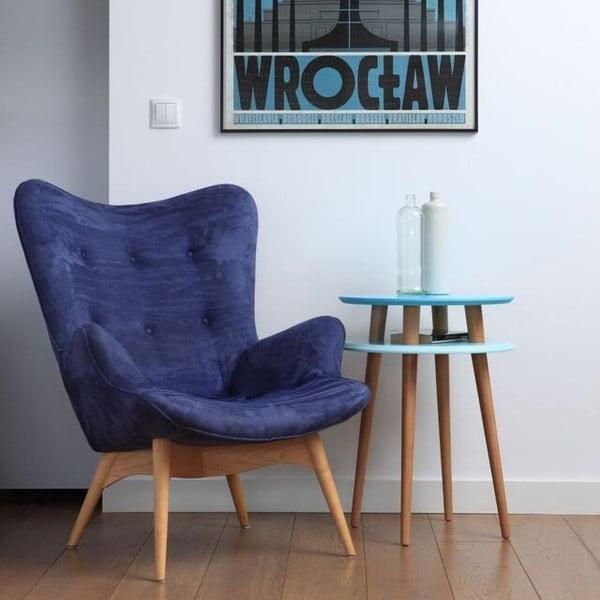 Odkládací stolek UFO 61x45 cm, světle modrý