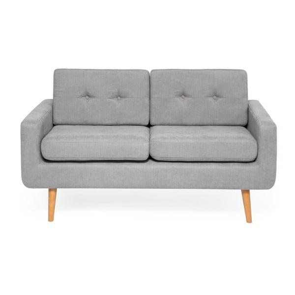 Canapea cu 2 locuri Vivonita Ina, gri deschis