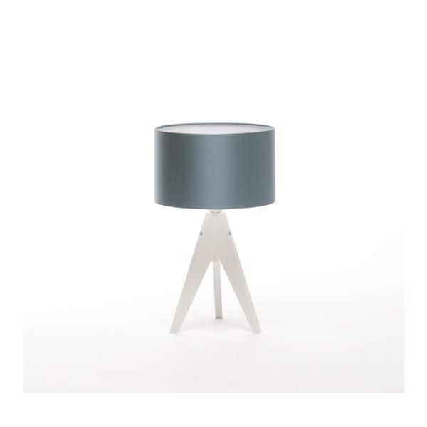 Modrá stolní lampa Artista, bílá bříza lakovaná, Ø 25 cm
