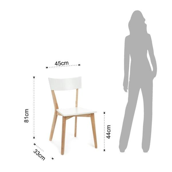 Sada 2 bílých jídelních židlí Tomasucci Kyra