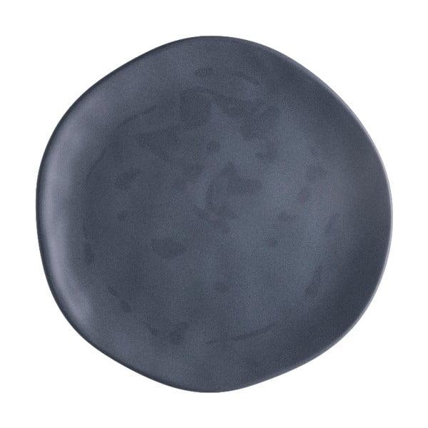 Tmavě šedý porcelánový talíř na pizzu Brandani Pizza, ⌀20cm