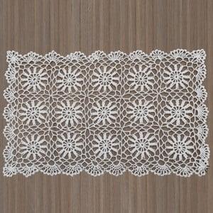 Bílé krajkové prostírání InArt, 30 x 45 cm