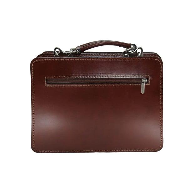 Kožený kufřík Chianti, čokoládový