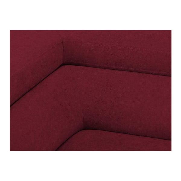 Červená rozkládací rohová pohovka Windsor & Co Sofas Gamma, levý roh