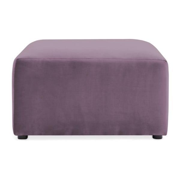 Lila fialová podnožka Vivonita Velvet Cube