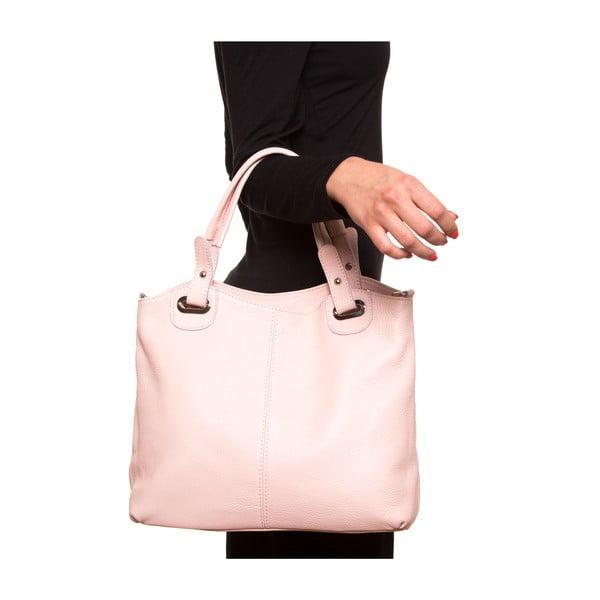 Kožená kabelka Luisa Vanini 1103, růžová