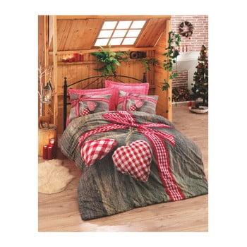 Lenjerie de pat din bumbac Ranforce Hearts, 200 x 220 cm de la Cotton Box
