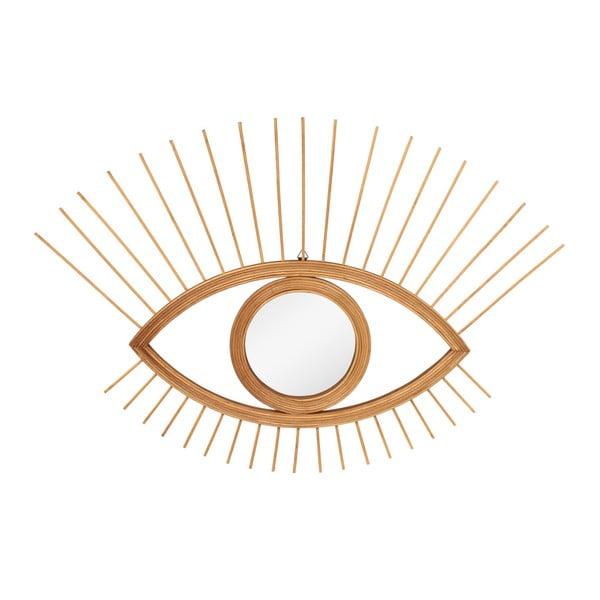 Lustro ścienne w kształcie oka z ramą w kolorze złota Le Studio Rotin