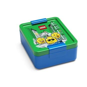 Cutie pentru gustare cu capac verde LEGO® Iconic, albastru de la LEGO®