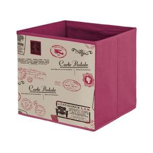 Fialová úložná krabice Domopak Stamps