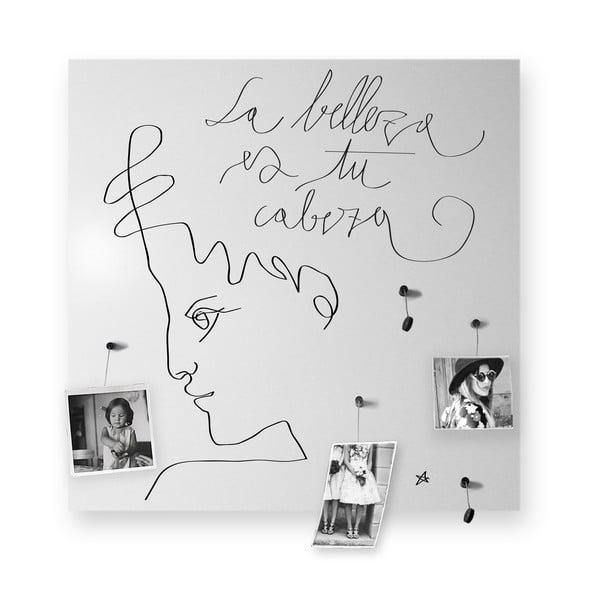 Magnetická tabule dESIGNoBJECT.it La Belleza,50x50cm