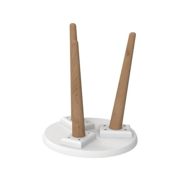 Bílý stůl D2 Bergen, 30 cm