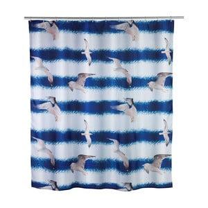 Modrý sprchový závěs Seagull Wenko, 1,8 m x 2 m