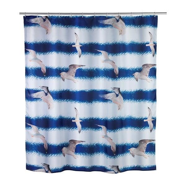 Perdea de duș Seagull Wenko, 1,8 m x 2 m, albastru
