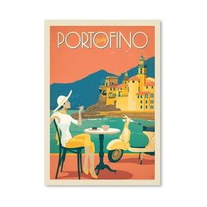 Plakát Americanflat Portofino, 42 x 30 cm