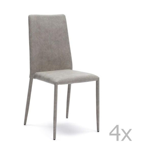 Sada 4 světle šedých jídelních židlí Design Twist Dammam