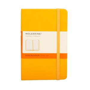 Zápisník Orange Hard, linkovaný