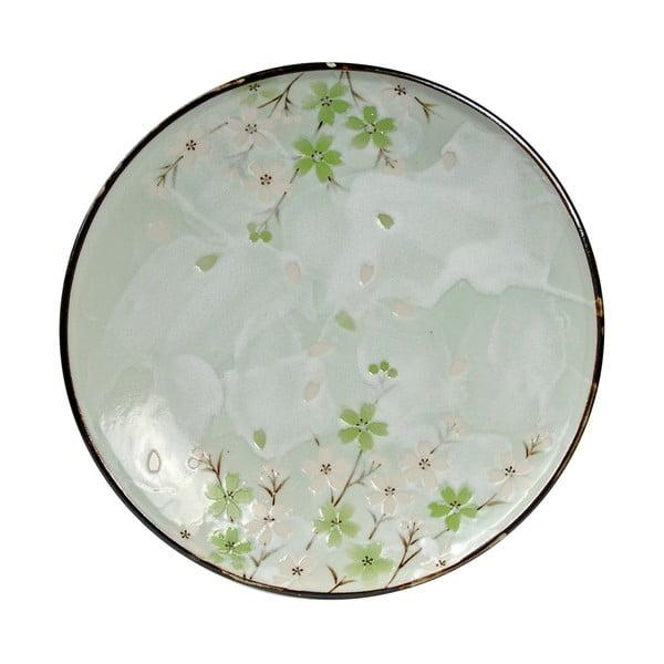 Porcelánový talíř Green Cosmos, 25.5 cm