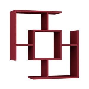 Raft de perete Homitis Parantez, roșu închis