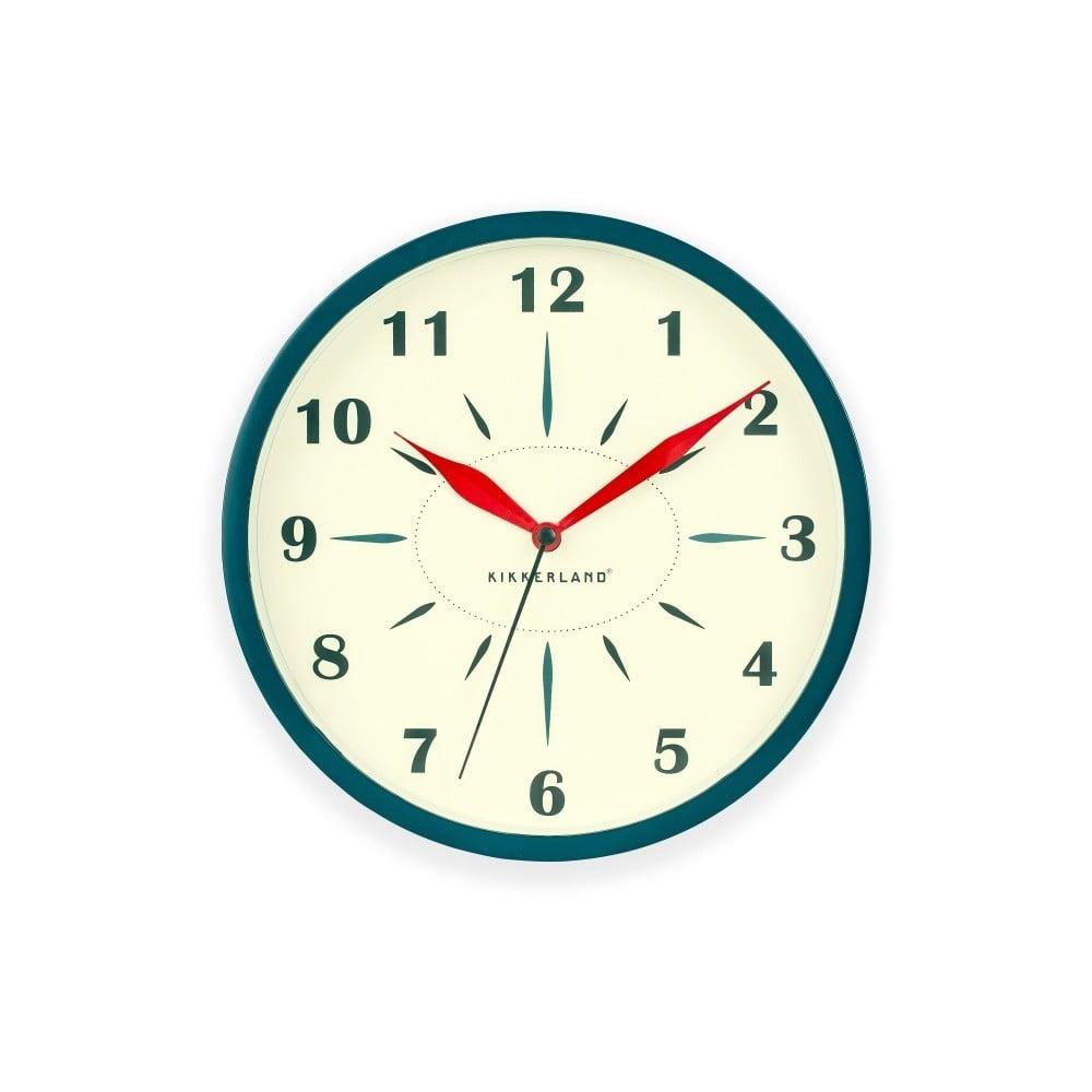Modro-bílé nástěnné hodiny Kikkerland Time