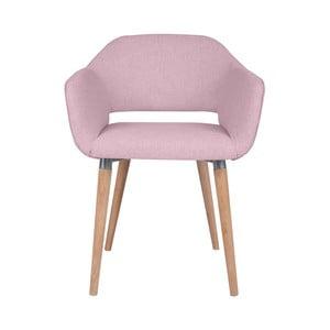 Růžová jídelní židle Cosmopolitan Design Napoli